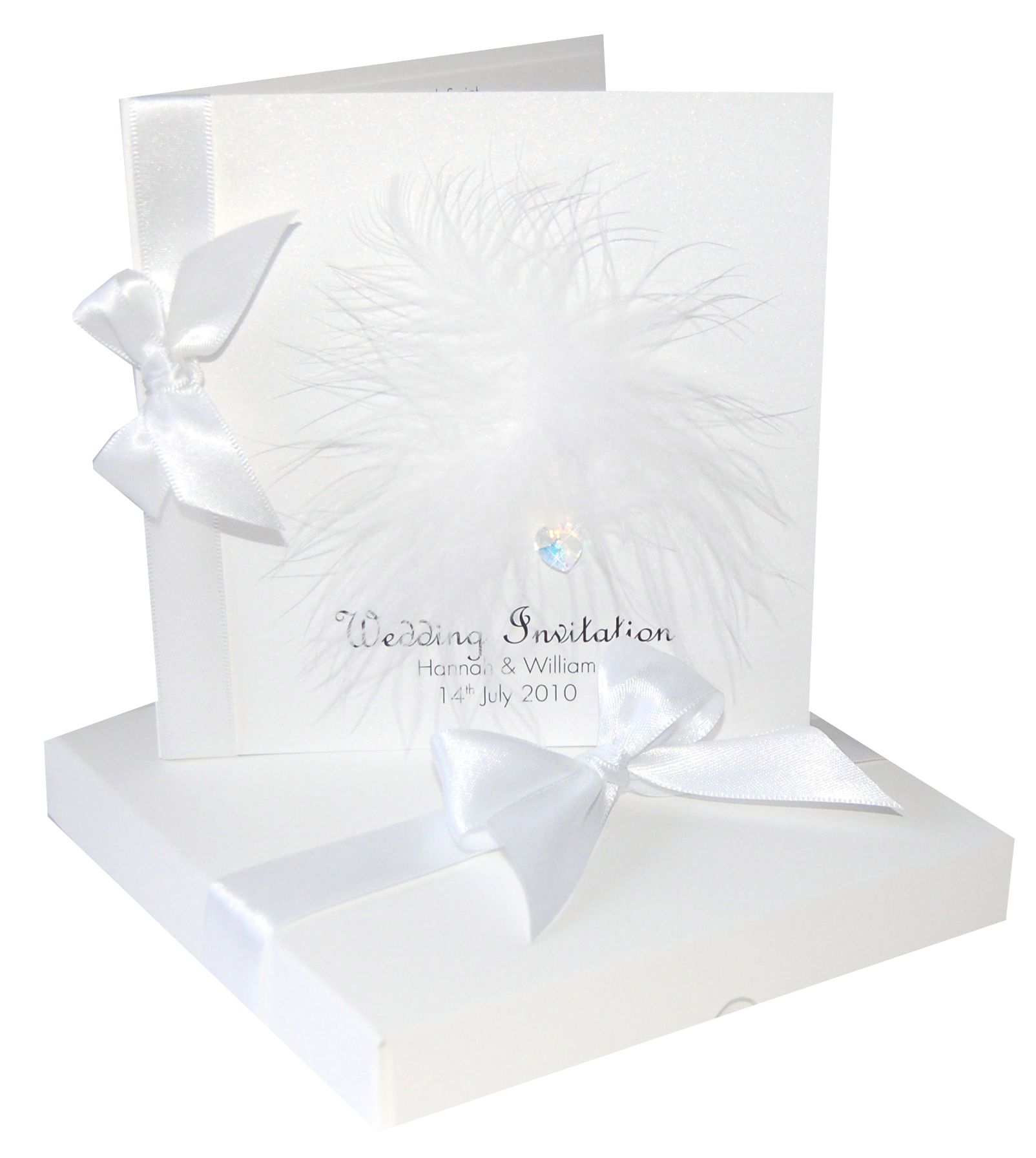 Mademoiselle wedding invitation, with stunning sparkly Swarovski ...