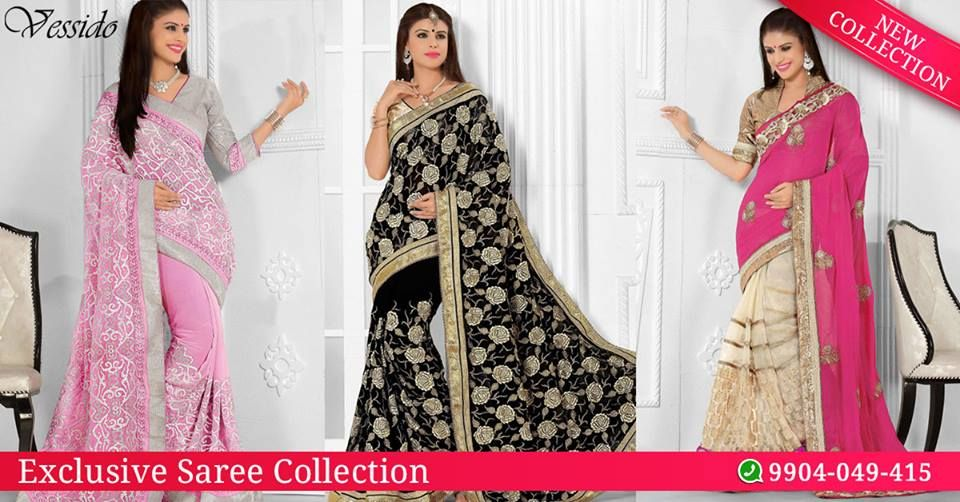 Shop for exclusive designer sarees at https://www.vessido.com/product-category/all/sarees/ You can place order on our Whatsapp no ( +91 ) 9904049415  #saree #onlinecollection #designer