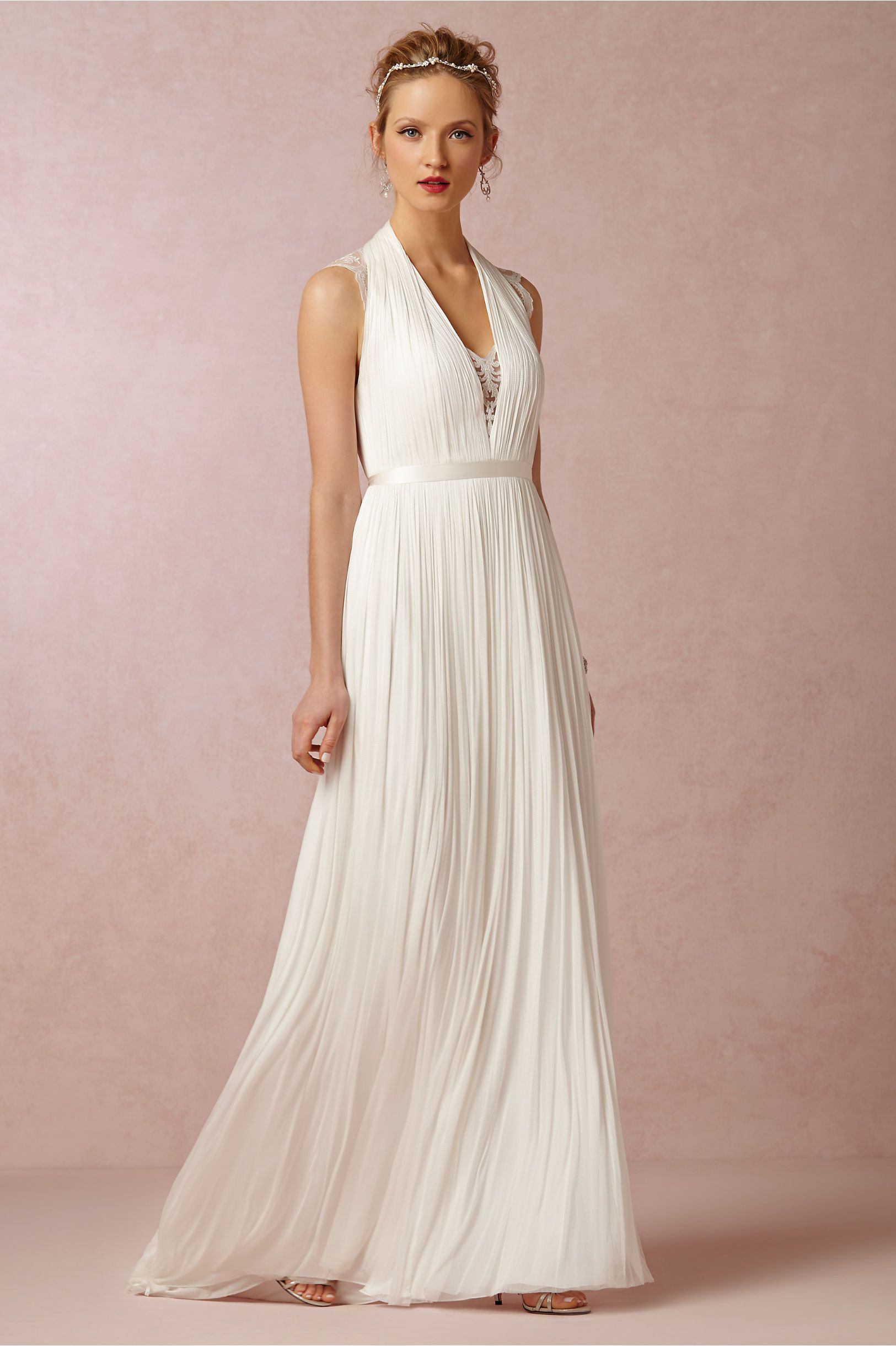 Wing Gown in Bride Wedding Dresses Back Detail at BHLDN | Bridal ...