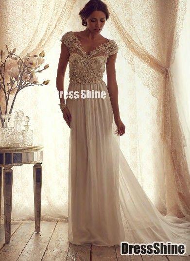 I like this - Hot Sell Gorgeous V Neck Cap Sleeves Chiffon Vintage Dress. Do you think I should buy it?