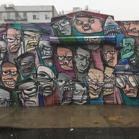 Mr Ewok one in Wlliamsburg, NYC, 2016