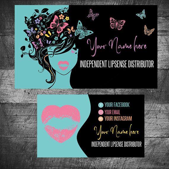 Butterfly Business Card Lipsense Senegence Business Cards Business Card Design Salon Business Cards Business Cards Creative