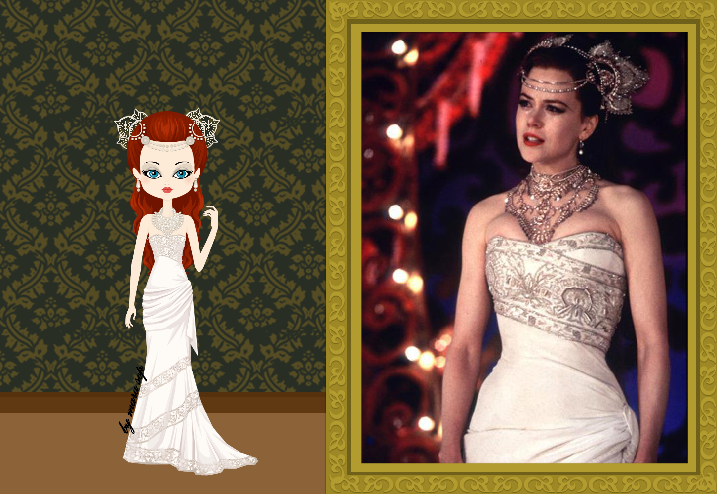 Satine (Nicole Kidman) In Her Hindi Wedding Dress, From Moulin Rouge. C.  1899