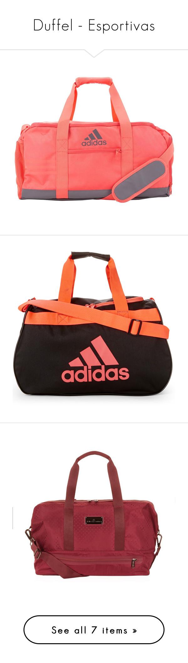 """Duffel - Esportivas"" by rafakeka on Polyvore featuring bags, luggage, black, woven bag, zip bag, handle bag, sports bag, mesh sports bag, handbags e multicolour"