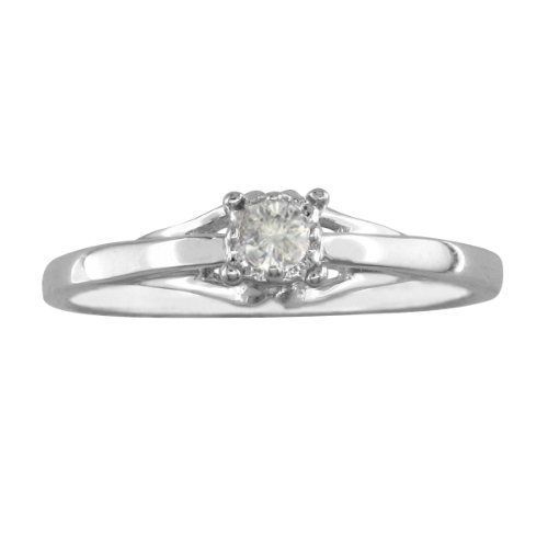 10k Sterling Silver Diamond Solitiare Promise Ring 05ct Available Ring Sizes 4 9 5 Superjeweler 39 Diamond Promise Rings Diamond Promise Promise Rings