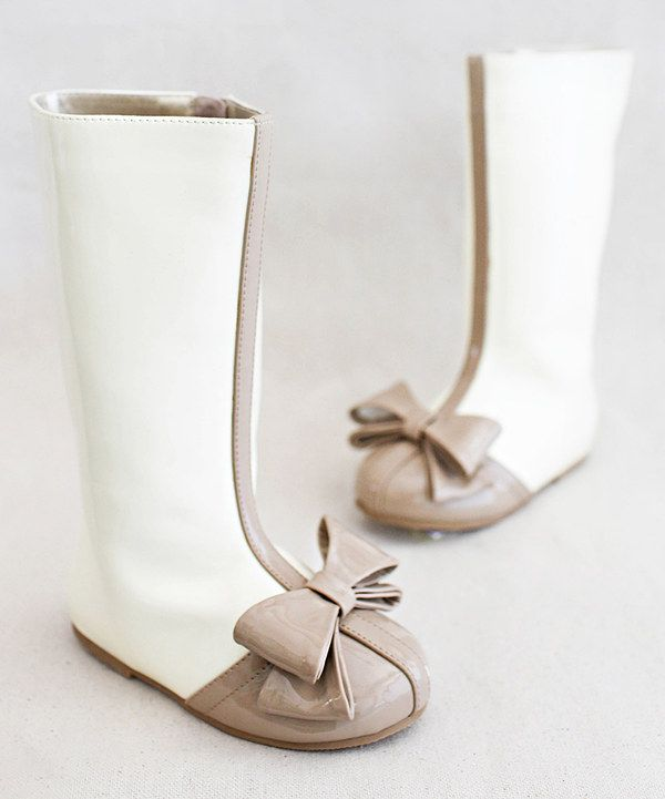Look at this Latte Elery Boot & Hair Clip - Kids on #zulily today!