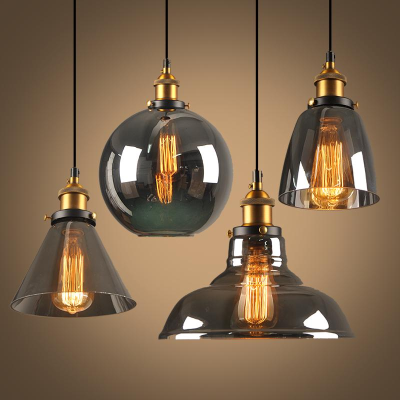 Gl Pendant Lights Loft Hang Lamp