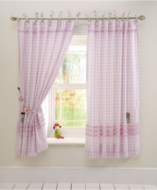Made With Love Girls Curtains Mamas And Papas Pink Gingham Girl Curtains Nursery Curtains Girl Girls Bedroom Curtains