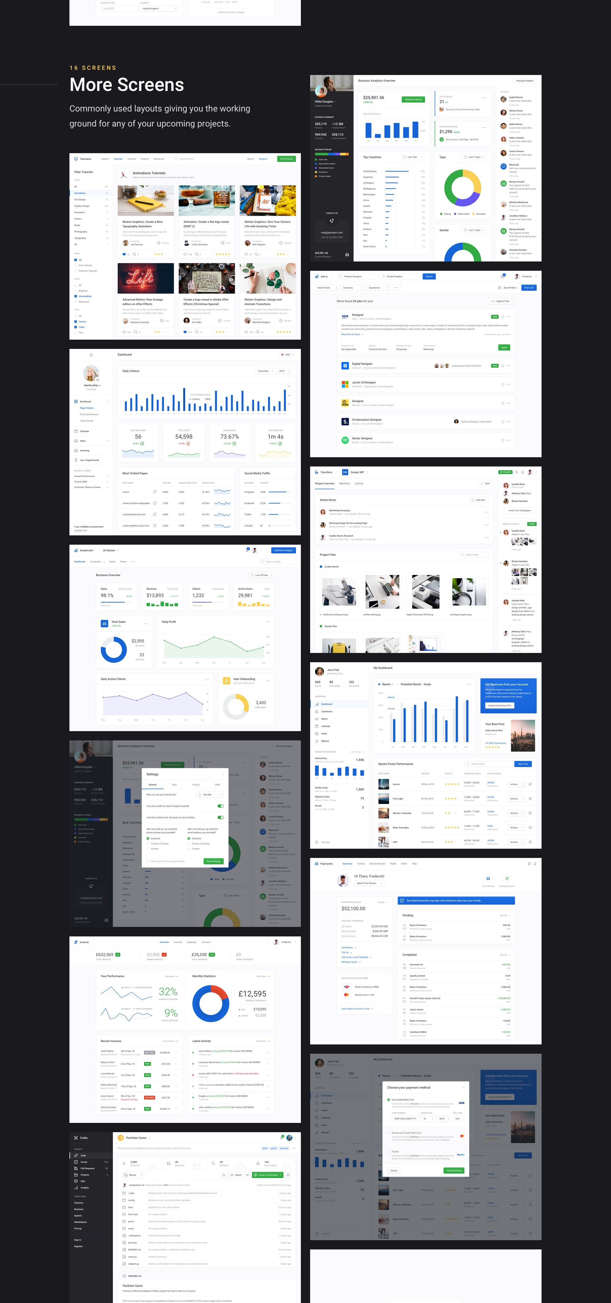 Dashboard UI Kit 3 0 — UI Kits on UI8 | UI/UX | Ui kit