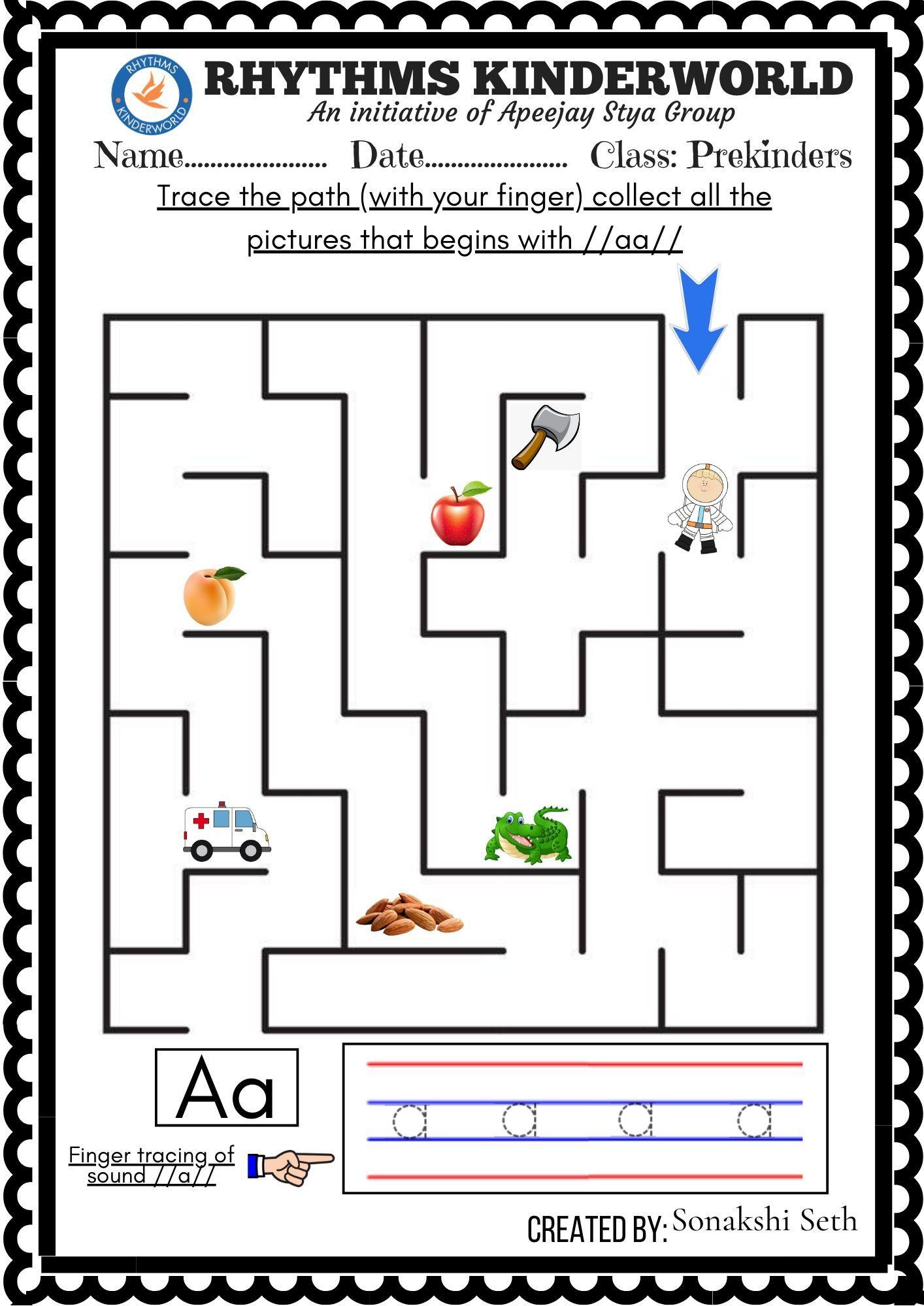 Maze Worksheet A In