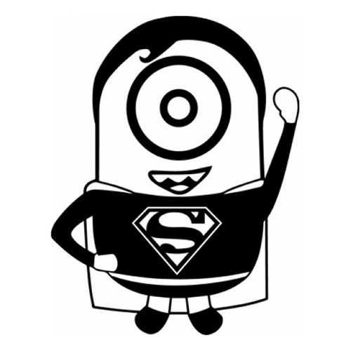 Minion superman die cut vinyl decal pv648