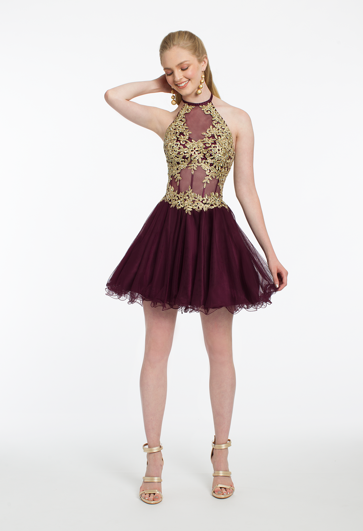 9a0f00af53 A halter neckline and hints of gold for  HOCO  Say no more! This