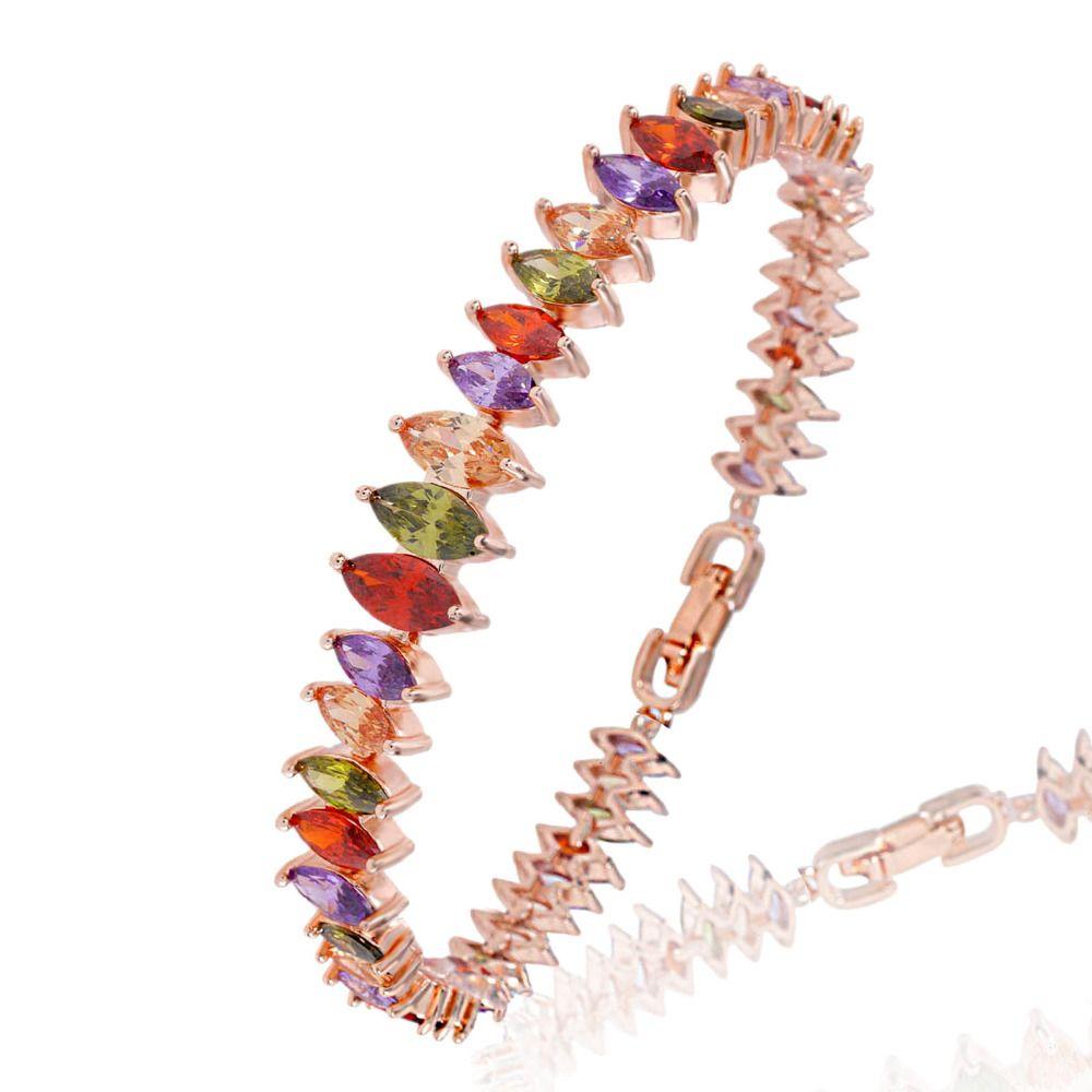 Crystal bracelet vintage unique design trendy silver rose gold