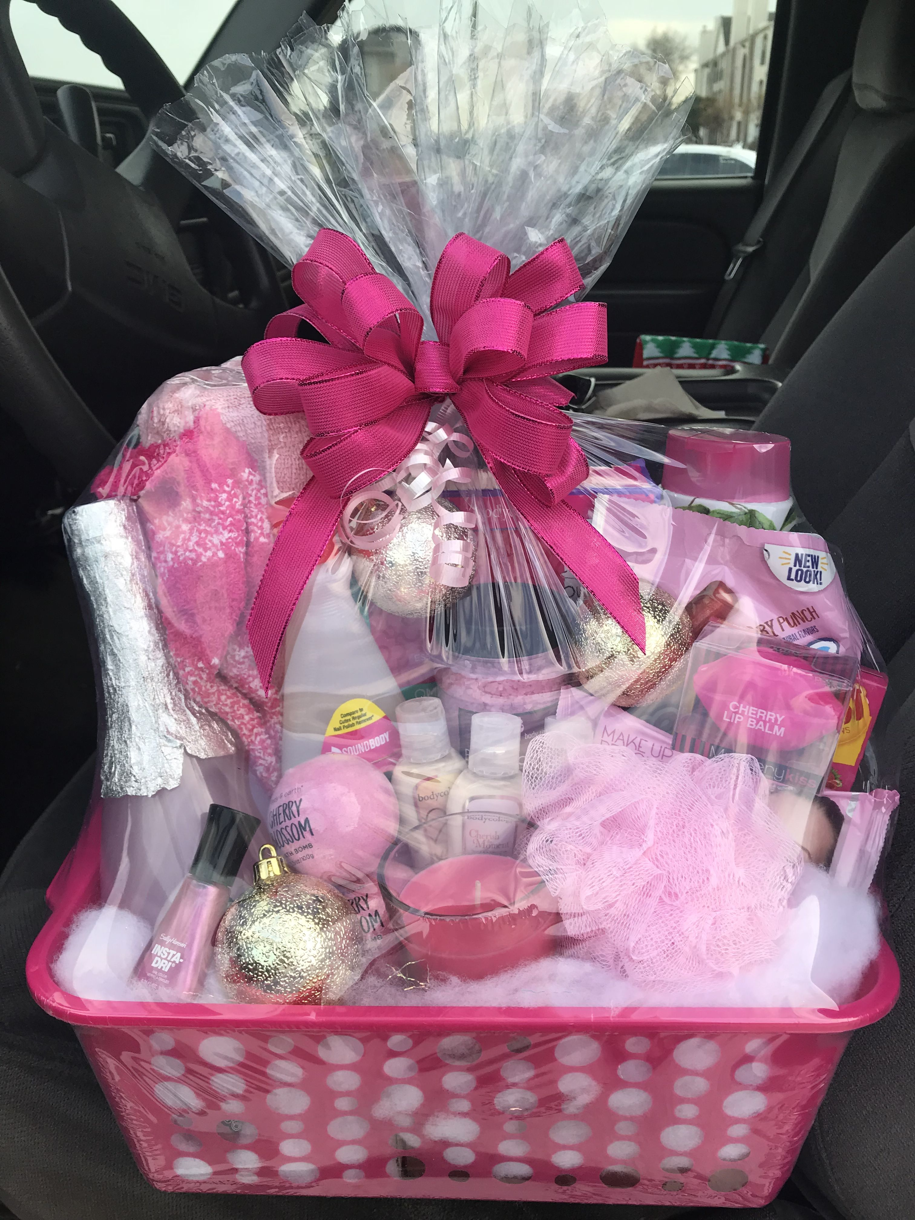 Pretty In Pink Basket With Images Pink Gift Basket Themed