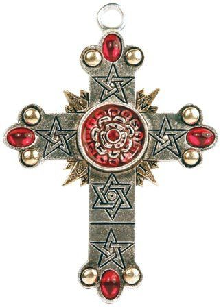 Rosicrucian cross with hexagram geometric 666s and pentagrams rosicrucian cross with hexagram geometric 666s and pentagrams also luciferian mozeypictures Image collections