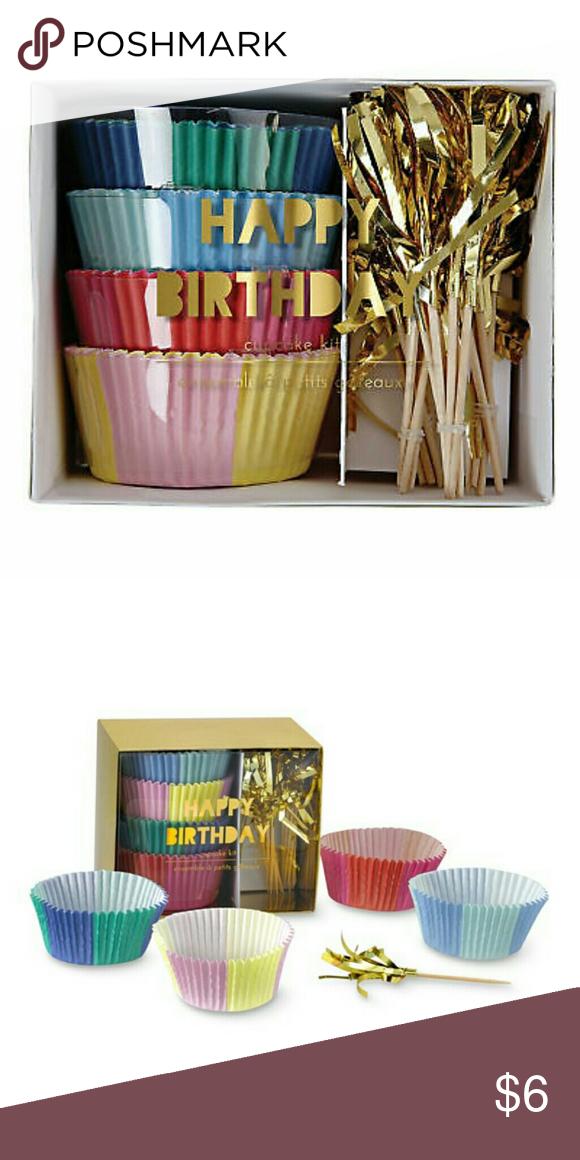 Brookstone Wired Cat Headphones Happy birthday cupcakes