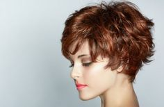Short wavy hair (great for thick hair)