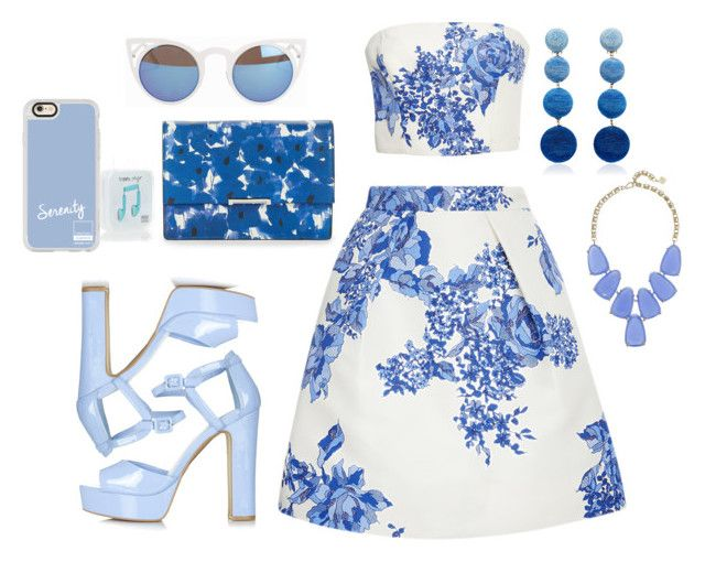"""""""cool for summer"""" by sara03139 ❤ liked on Polyvore featuring Monique Lhuillier, Topshop, Casetify, Quay, Happy Plugs, Kendra Scott, Rebecca de Ravenel and Ivanka Trump"""