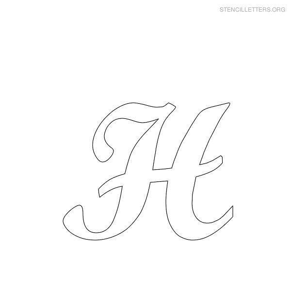 free printable alphabet stencils stencil letters h printable