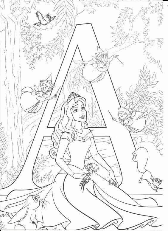 You Can Get Free Printable Disney Alphabet Letters For Your Kids To Color Disney Princess Coloring Pages Disney Coloring Sheets Abc Coloring Pages