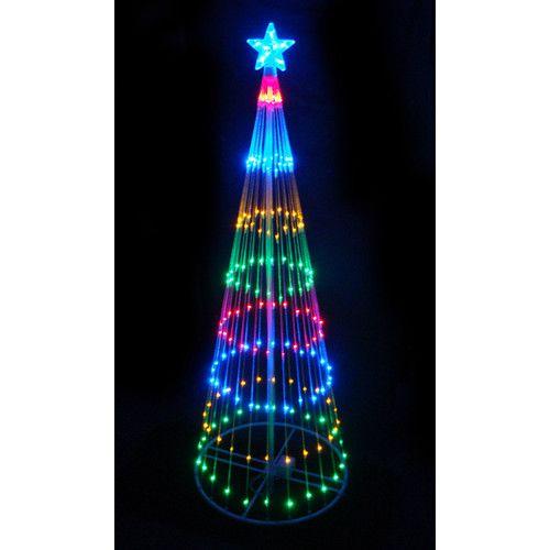 Decorative LED Light Show Cone Christmas Tree Lighted Display 聖誕