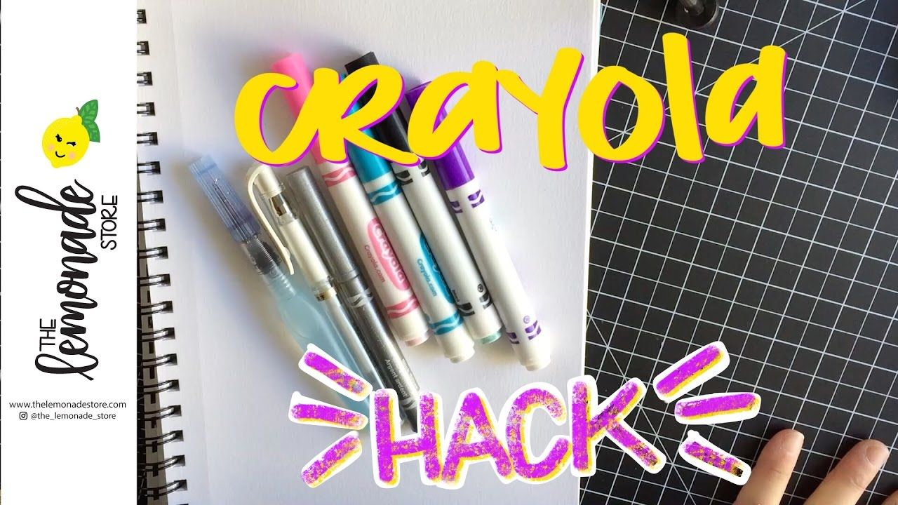 How To Use Crayola Markers As A Watercolor Background Crayola