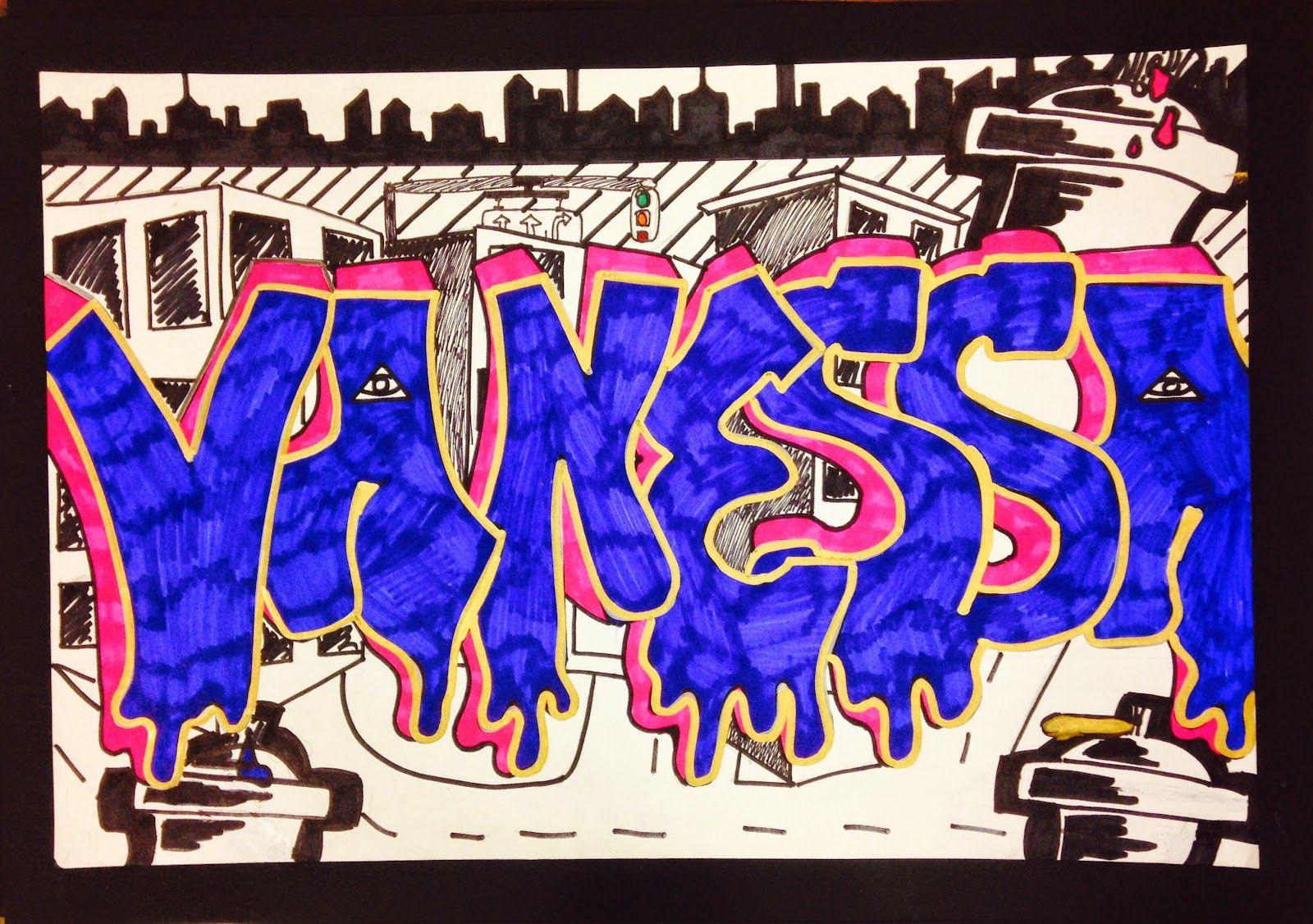 Tag/lesson plans - Sylvandale Middle School Art Class Graffiti Name Tag
