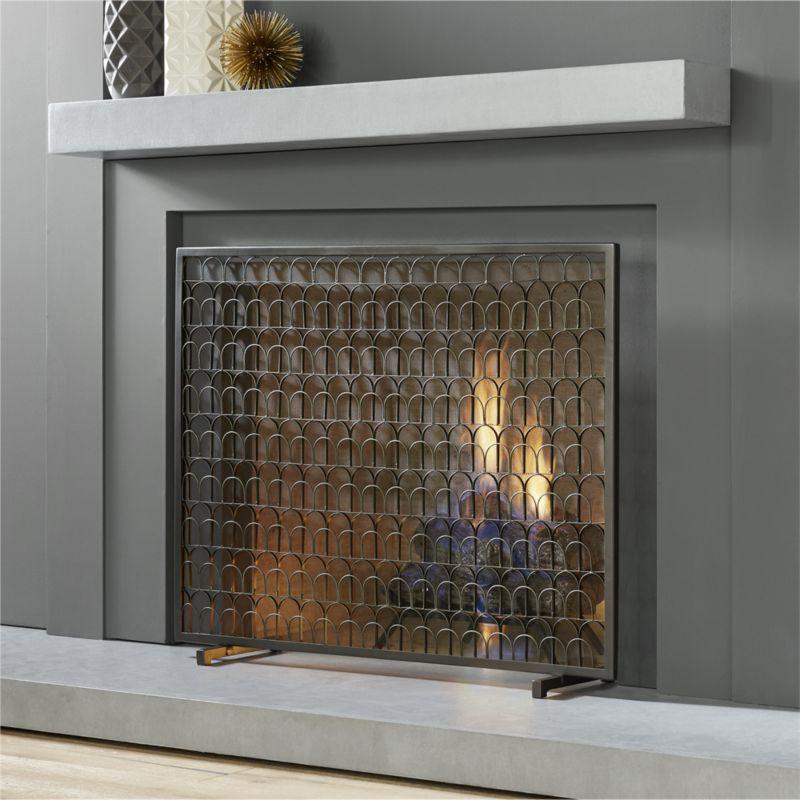 Shop Arch Fireplace Screen Iron Arrangement Of Artistic Arches