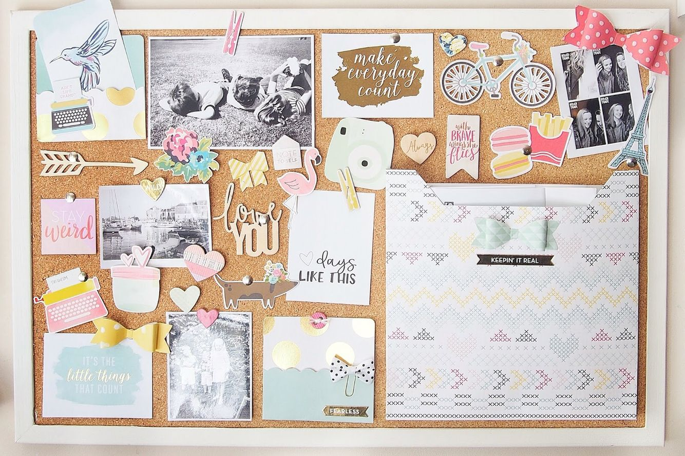 Diy cork board notice board decoration and organisation for How to decorate a cork board