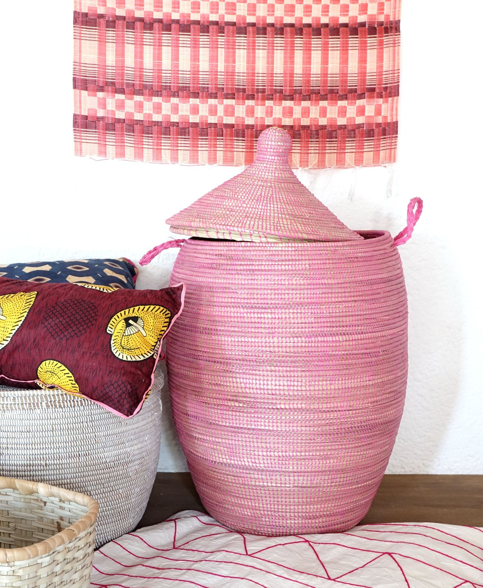 Solid Pink Laundry Basket In Xl Laundry Hamper African Basket