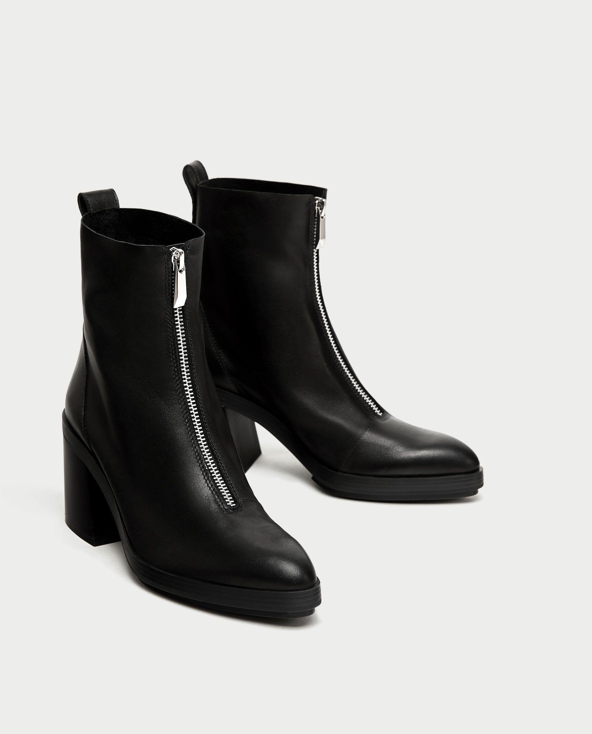 Zapatos con cremallera de cuero Zara para Mujeres | eBay