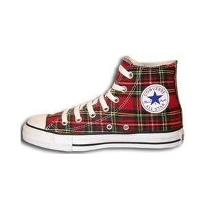 9a7f680175e Tartan - Converse All Star - Casual Christmas shoes PennFoster   Bemorefestive  Choosetobemorefestive