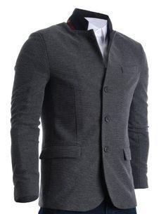 FLATSEVEN Homme Slim Fit Casual Waffle Fabric Blazer Veste Grey, Boys L #FLATSEVEN #vetement #fashion #homme #veste