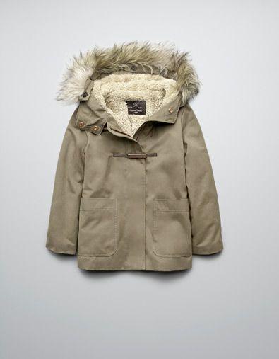 parka int rieur en mouton manteaux fille 2 14 ans enfants zara france clara. Black Bedroom Furniture Sets. Home Design Ideas