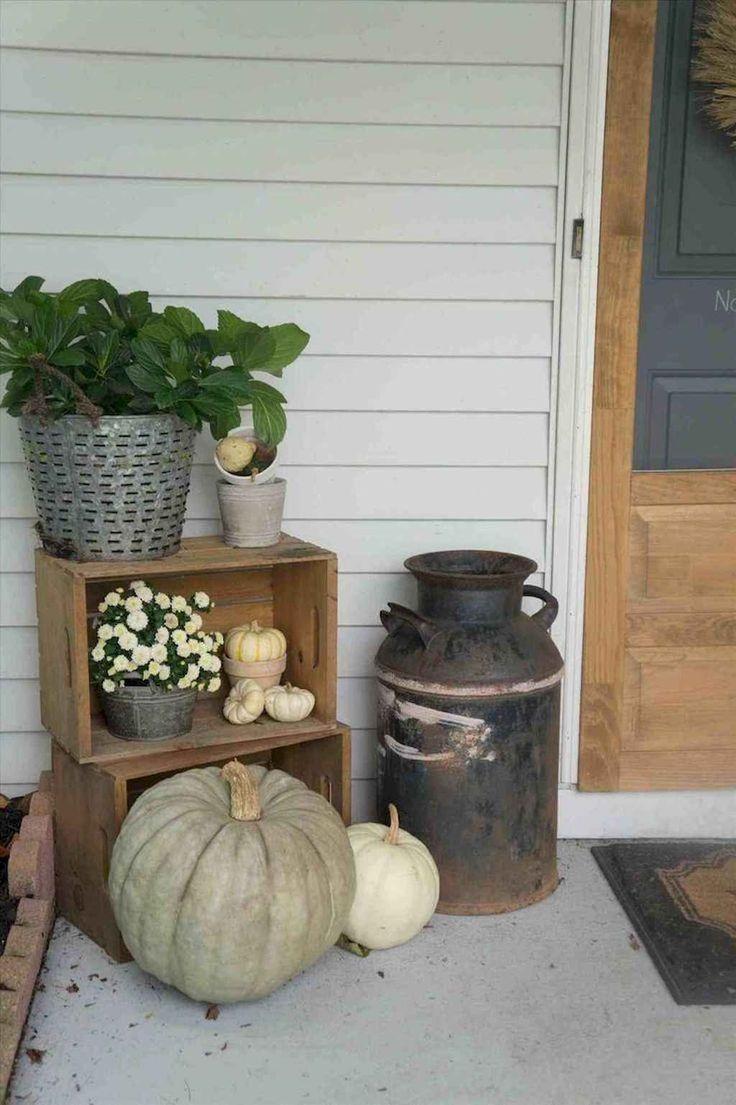 18 Bauernhaus Herbst Veranda Dekorationsideen    Fall #smallporchdecorating