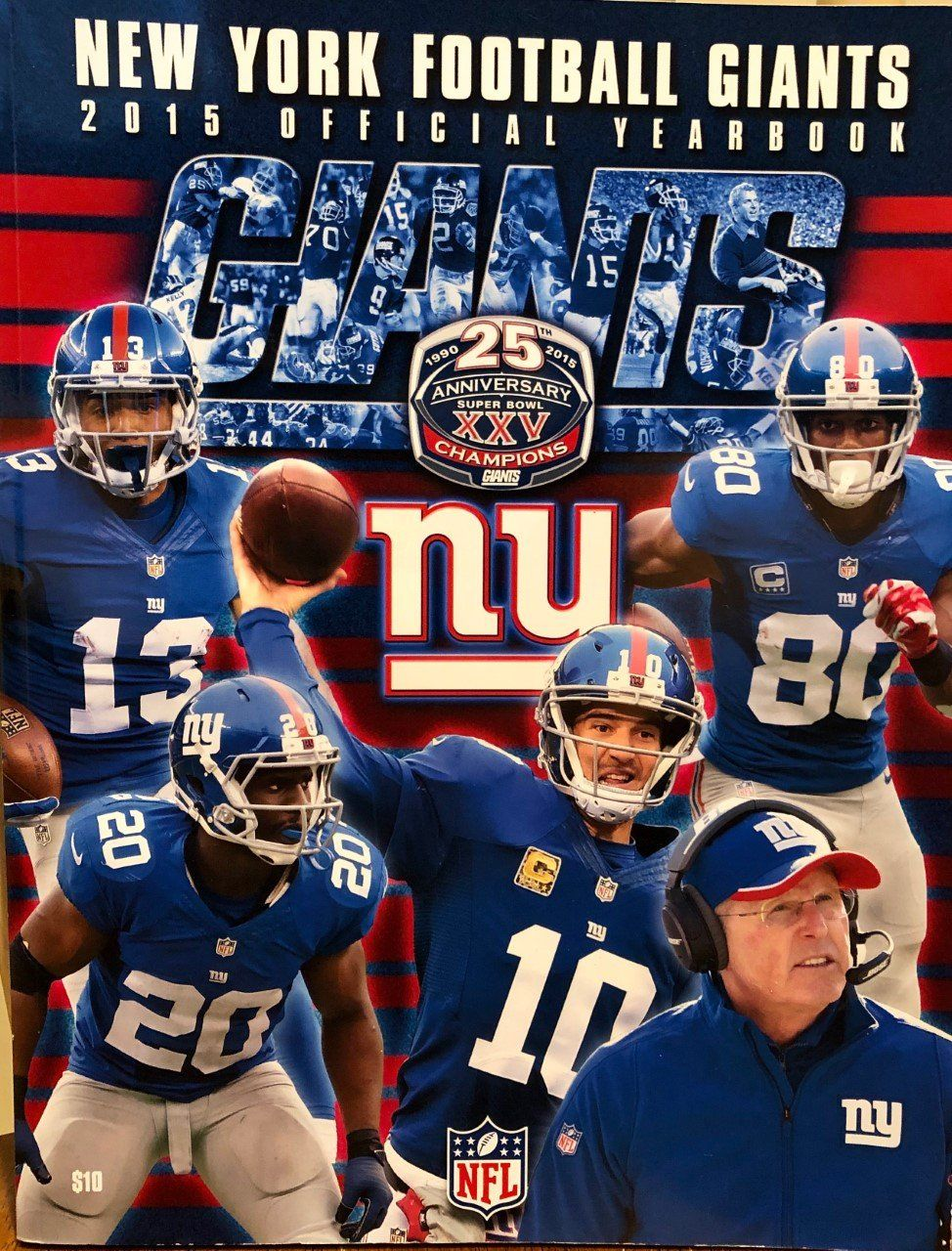 Ny Football Giants 2015 Official Yearbook Nfl Program Magazine In 2020 Football New York Football Nfl
