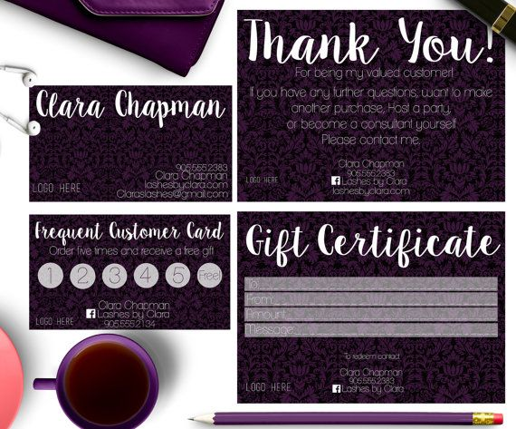 Younique Business cardsreward card,gift certificate,thank you cards - fresh younique gift certificate template