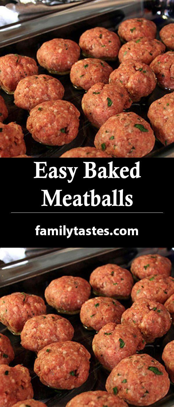 Photo of Easy Baked Meatballs – Family Tastes