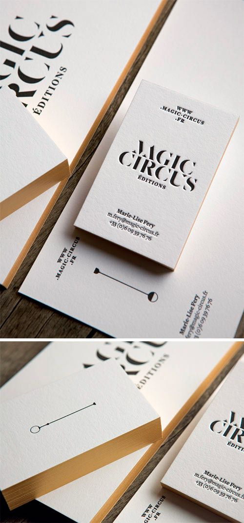 Ensemble Papeterie Pour Magic Circus Editions En Papier Pur Coton Business Stationery For Cartes De VisiteCarte