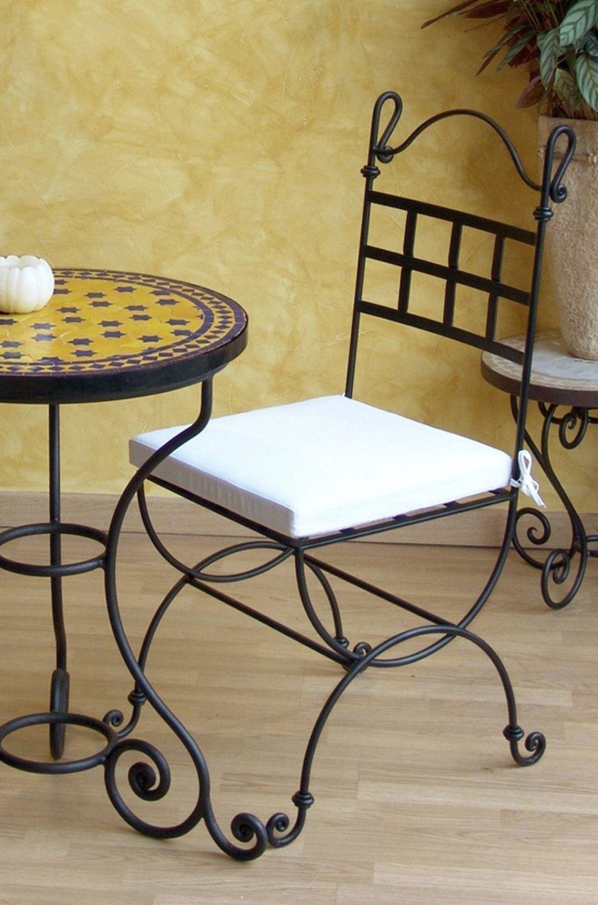 Silla hierro 005 sillas muebl for Muebles de jardin de hierro forjado