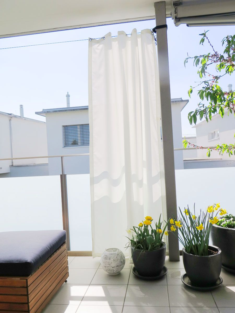 Outdoor Vorhang Santorini Nach Mass Weiss In 2020 Outdoor