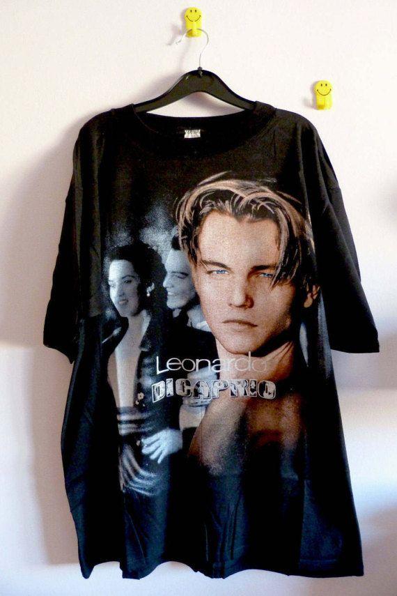 f8bb703a5daf2 90 s Leonardo Dicaprio Titanic T-Shirt Vintage by SLEEP4EVERCLUB