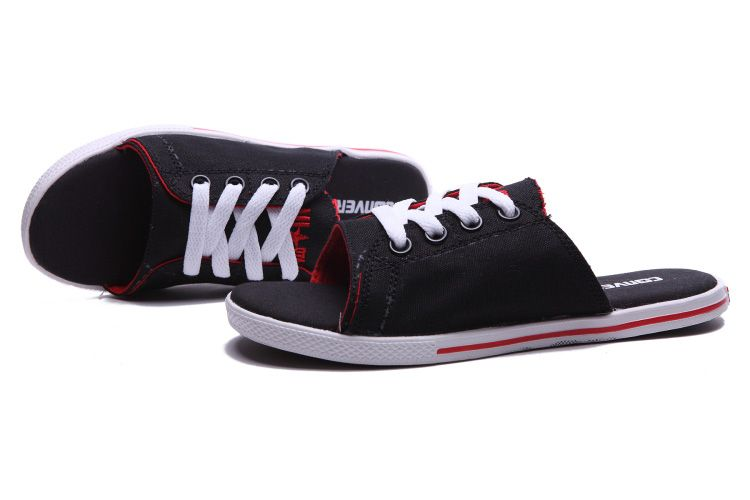 7f2fd2c64adb Black All Star Converse Cutaway EVO Chuck Taylor Slippers Red Inner   converse  shoes