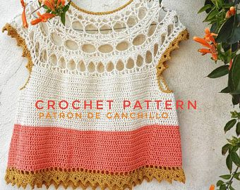 Crochet Tunic Pattern | Crochet Top Pattern | Crochet Tutorial Row by Row in English | Boho Crochet Pattern | Crochet Sweater | Crochet Top