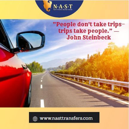 """""""People don't take trips—trips take people."""" ― John Steinbeck  #TravelQuotes #Nasttransfers #quote #adventure #Travelquote #travelworldwide #JohnSteinbeck"""