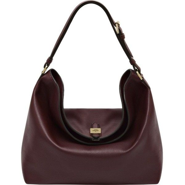 MULBERRY Tessie hobo bag (70.735 RUB) ❤ liked on Polyvore featuring bags, handbags, shoulder bags, oxblood, genuine leather handbags, hobo purse, leather hobo purse, hobo shoulder handbags and mulberry shoulder bag