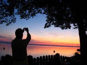 Fotograf am Chiemsee: Sonnenuntergang