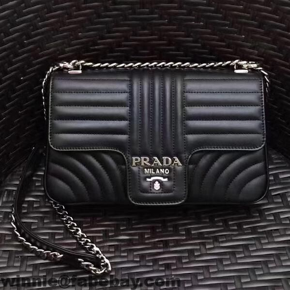 399742f29b Prada Diagramme Leather Flap Shoulder Bag 1BD108 2017