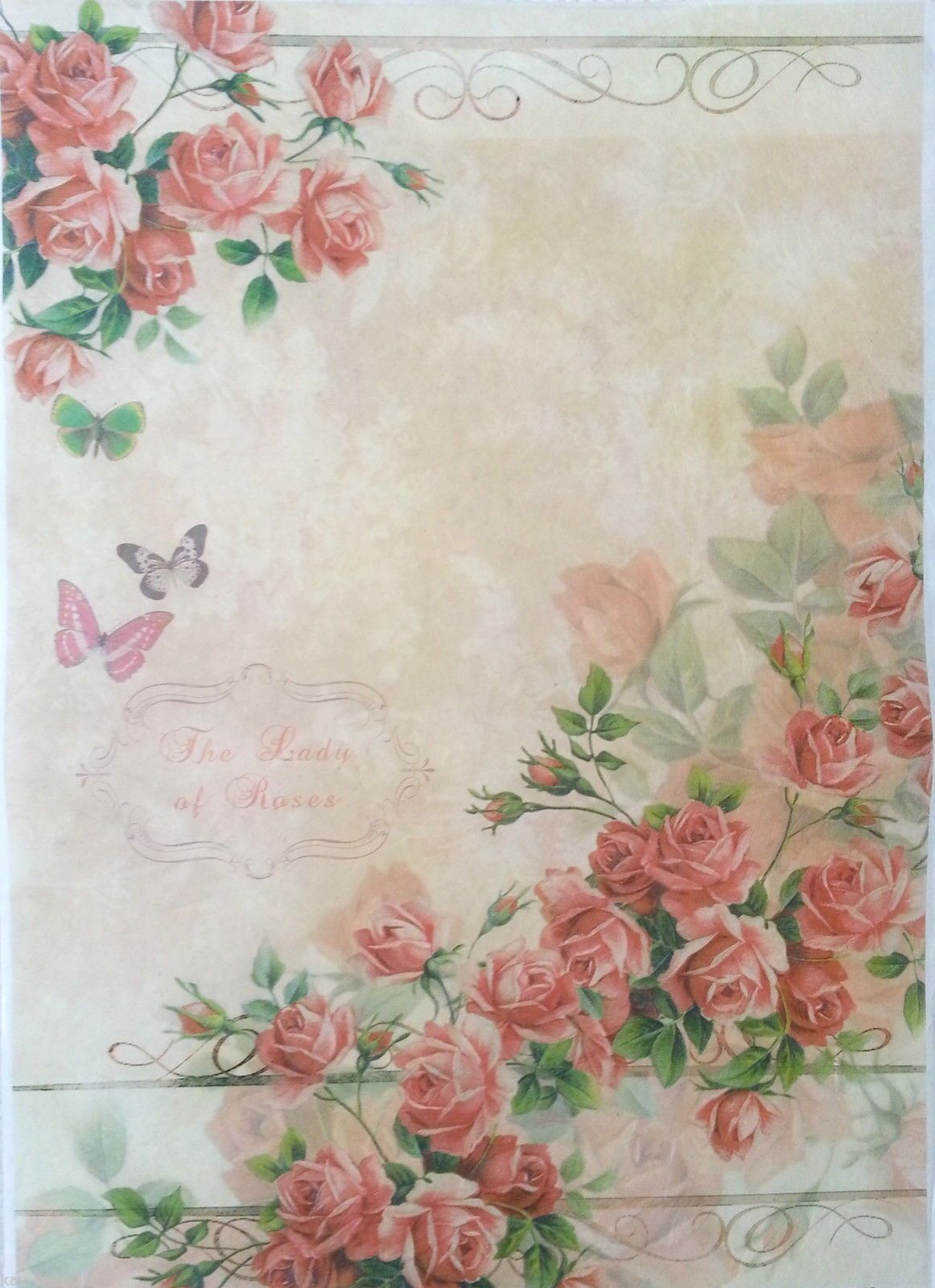 Rice Decoupage Paper  Decopatch  Decoupage Sheets Scrapbooking, Light Roses 7110625292674   eBay is part of Decoupage paper - Set of 4 single napkins 3Ply Quality Paper Napkins