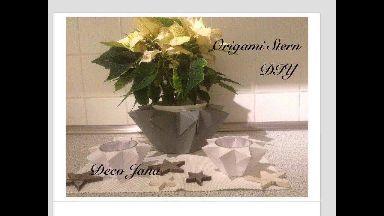 Diy Origami Stern Windlicht Teelichtstern Weihnachtsdekoration